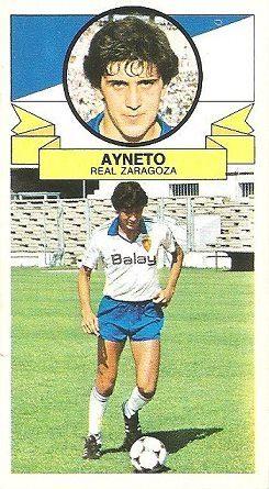 Liga 85-86. Ayneto (Real Zaragoza). Ediciones Este.