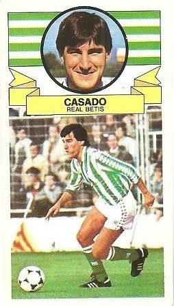 Liga 85-86. Casado (Real Betis). Ediciones Este.