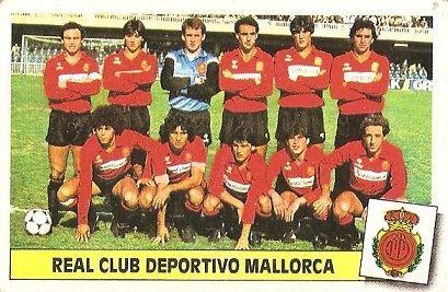 Liga 86-87. Alineación R.C.D. Mallorca (R.C.D. Mallorca). Ediciones Este.