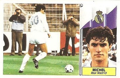 Liga 86-87. Michel (Real Madrid). Ediciones Este.