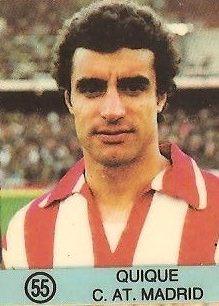 1983-84 Super Campeones. Quique (Atlético de Madrid). (Ediciones Gol).