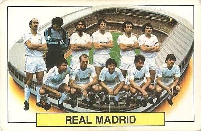 Liga 83-84. Alineación Real Madrid (Real Madrid). Ediciones Este.