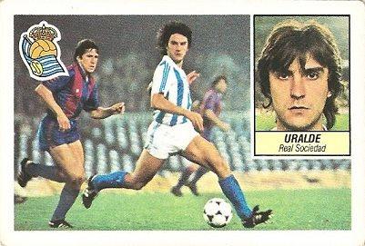 Liga 84-85. Uralde (Real Sociedad). Ediciones Este.