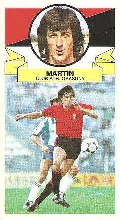 Liga 85-86. Martín (Club Atlético Osasuna). Ediciones Este.