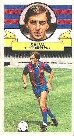 Liga 85-86. Salva (F.C. Barcelona). Ediciones Este