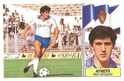 Liga 86-87. Ayneto (Real Zaragoza). Ediciones Este.