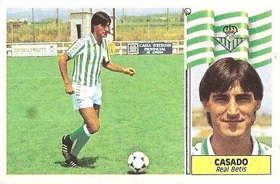Liga 86-87. Casado (Real Betis). Ediciones Este.
