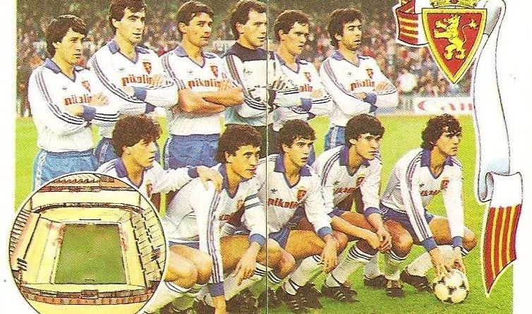 Gol. Campeonato de Liga 1984-85. Alineación Real Zaragoza (Real Zaragoza). Editorial Maga.