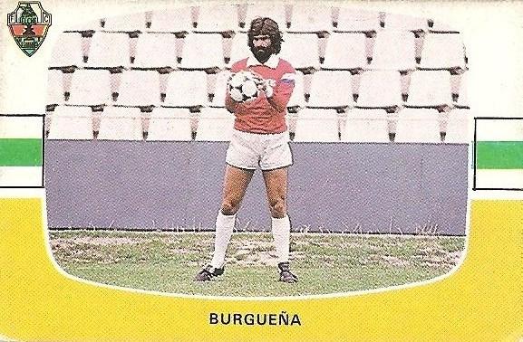 Liga 84-85. Burgueña (Elche C.F.). Cromos Cano.
