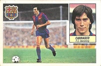 Liga 84-85. Carrasco (F.C. Barcelona). Ediciones Este.