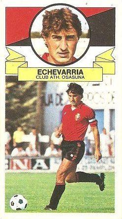 Liga 85-86. Echeverría (Club Atlético Osasuna). Ediciones Este.