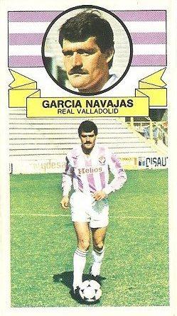 Liga 85-86. García Navajas (Real Valladolid). Ediciones Este.