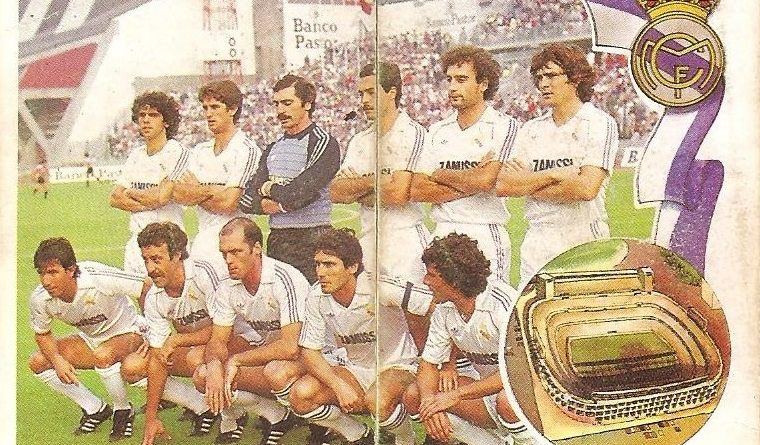 Gol. Campeonato de Liga 1984-85. Alineación Real Madrid (Real Madrid). Editorial Maga.
