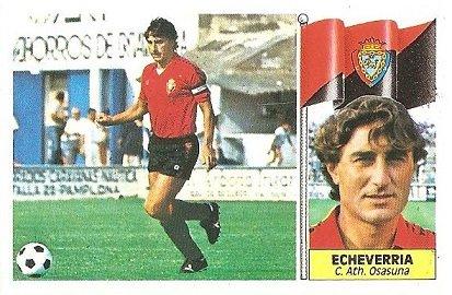 Liga 86-87. Echevarría (Club Atlético Osasuna). Ediciones Este.