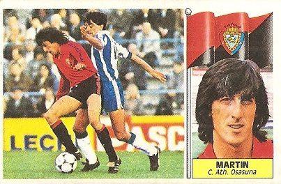 Liga 86-87. Martín (Club Atlético Osasuna). Ediciones Este.
