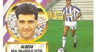Liga 88-89. Fichaje Nº 16 Albesa (Real Valladolid). Ediciones Este.