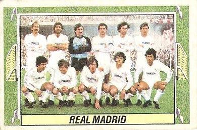 Liga 84-85. Alineación Real Madrid (Real Madrid). Ediciones Este.