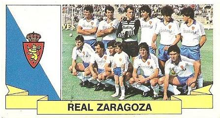 Liga 85-86. Alineación Real Zaragoza (Real Zaragoza). Ediciones Este.