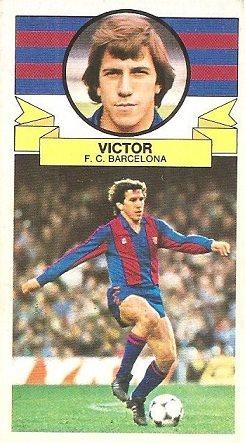 Liga 85-86. Víctor (F.C. Barcelona). Ediciones Este.