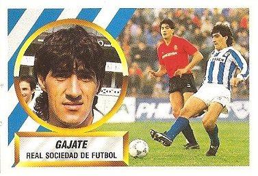 Liga 88-89. Gajate (Real Sociedad). Ediciones Este.