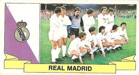Liga 85-86. Alineación Real Madrid (Real Madrid). Ediciones Este.