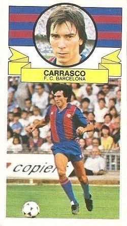 Liga 85-86. Carrasco (F.C. Barcelona). Ediciones Este.