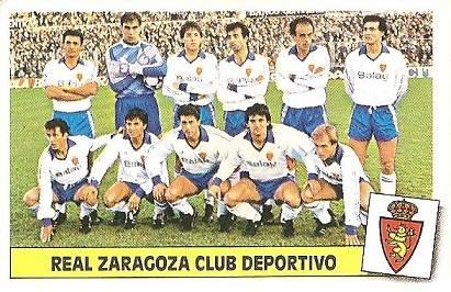 Liga 86-87. Alineación Real Zaragoza (Real Zaragoza). Ediciones Este.