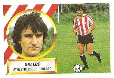 Liga 88-89. Uralde (Ath. Bilbao). Ediciones Este.