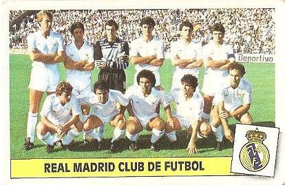 Liga 86-87. Alineación Real Madrid (Real Madrid). Ediciones Este.