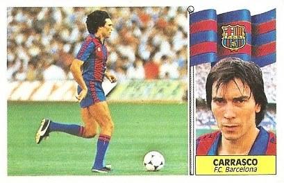 Liga 86-87. Carrasco ( F.C. Barcelona). Ediciones Este.
