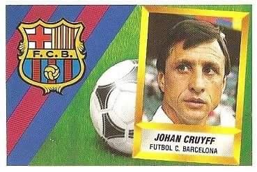 Liga 88-89. Johan Cruyff (F.C. Barcelona). Ediciones Este.