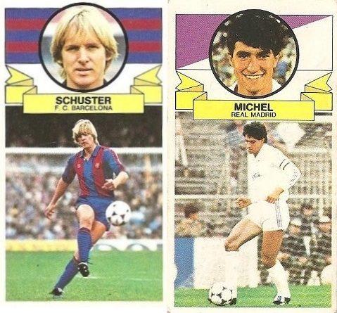 Liga 85-86. Schuster y Míchel. Ediciones Este.
