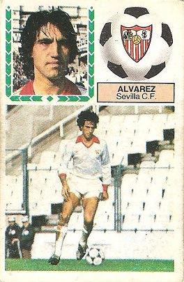 Liga 83-84. Álvarez (Sevilla C.F.). Ediciones Este.