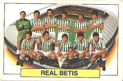 Liga 83-84. Alineación Real Betis (Real Betis). Ediciones Este.