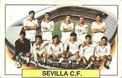 Liga 83-84. Alineación Sevilla C.F. (Sevilla C.F.). Ediciones Este.