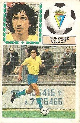Liga 83-84. González (Cadiz C.F.). Ediciones Este.