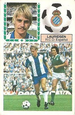 Liga 83-84. Lauridsen (R.C.D. Español). Ediciones Este.