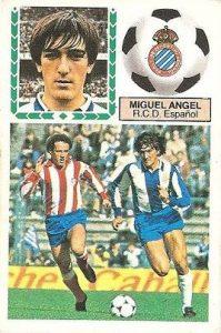 Liga 83-84. Miguel Ángel (R.C.D. Español). Ediciones Este.