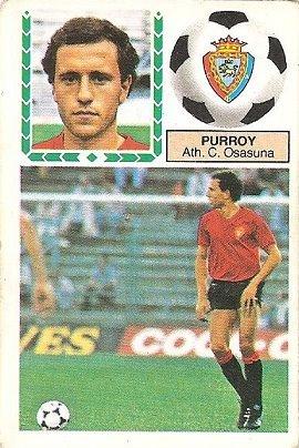 Liga 83-84. Purroy (Club Atlético Osasuna). Ediciones Este.
