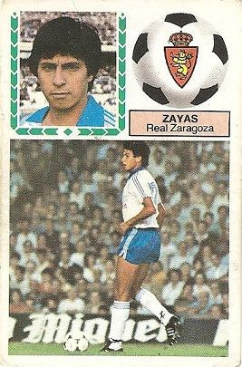 Liga 83-84. Zayas (Real Zaragoza). Ediciones Este.