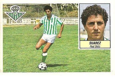 Liga 84-85. Suárez (Real Betis). Ediciones Este.