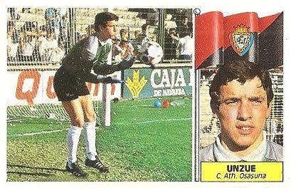 Liga 86-87. Unzue (Club Atlético Osasuna). Ediciones Este.