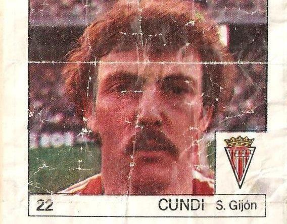 Super Cromos Los Mejores del Mundo (1981). Cundi (Real Sporting de Gijón). Chicle Fútbol Boomer.
