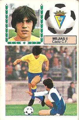 Liga 83-84. Mejias II (Cadiz C.F.). Ediciones Este