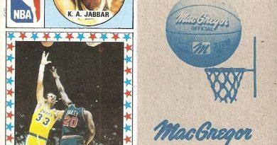 Baloncesto 1986-1987. K.A. Jabbar (L.A. Lakers). Ediciones J. Merchante.