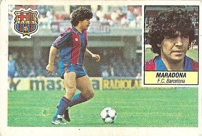 Liga 84-85. Maradona (F.C. Barcelona). Ediciones Este.