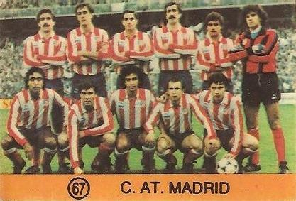 1983-84 Super Campeones. Alineación Atlético de Madrid (Atlético de Madrid). (Ediciones Gol).