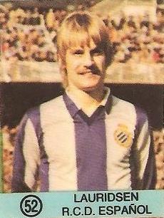 1983-84 Super Campeones. Lauridsen (R.C.D. Español). (Ediciones Gol).