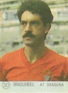 1983 Selección de Fútbol Liga Española. Iriguibel (Club Atlético Osasuna). Editorial Mateo Mirete.