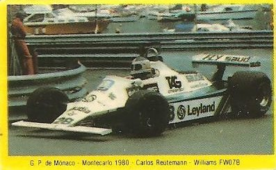 Grand Prix Ford 1982. Carlos Reutemann (Williams). (Editorial Danone).